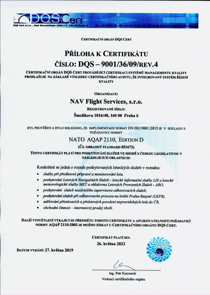 Priloha k certifikatu NAV AQAP